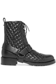 Valentino The Rockstud quilted leather ankle boots