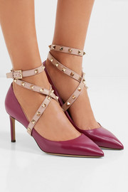 Studwrap leather pumps