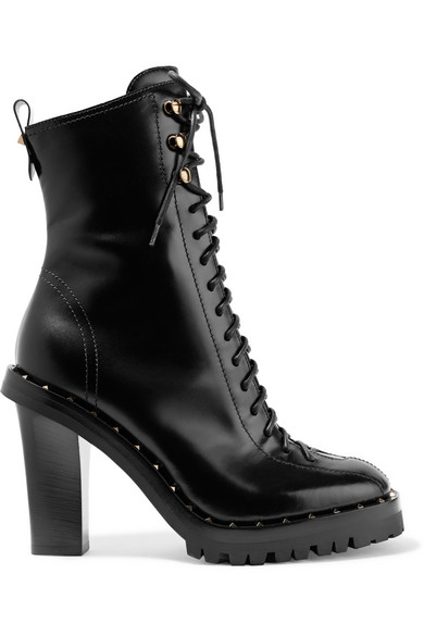 934880a4d1a9e Valentino. Soul Rockstud glossed-leather boots