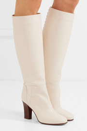 Valentino Lovestud leather knee boots