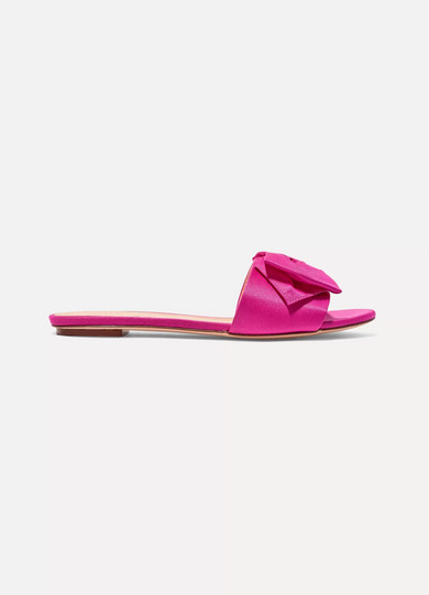 J.crew Mules From Satin With Ribbon Details