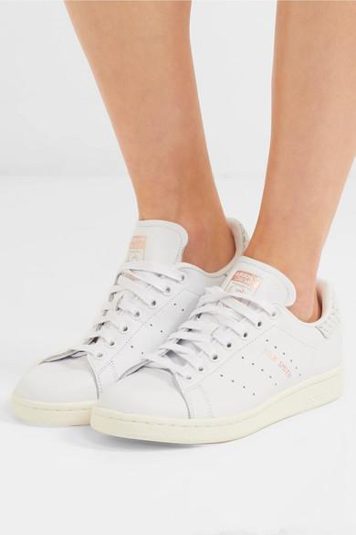 adidas Originals Stan Smith Sneakers aus Glattleder und Leder mit Schlangeneffekt