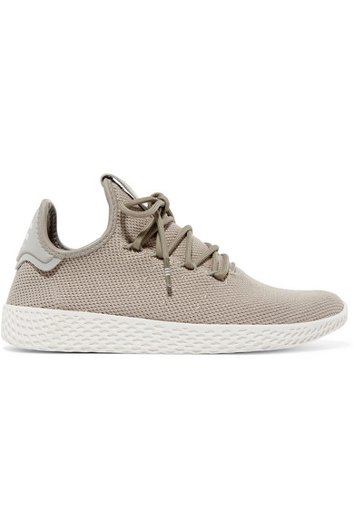 + Pharrell Williams Tennis Hu Stretch-knit Sneakers - White adidas Originals 8uwII
