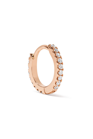 Maria Tash - 18-karat Rose Gold Diamond Earring