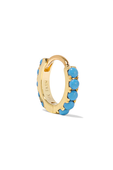 MARIA TASH 6.5Mm 14-Karat Gold Turquoise Earring
