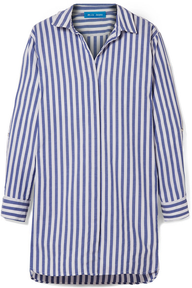 M.i.h Jeans - Oversized Striped Cotton Shirt - Blue