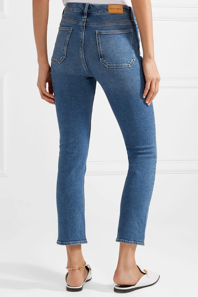 M.i.h Jeans Niki verkürzte hoch sitzende Skinny Jeans