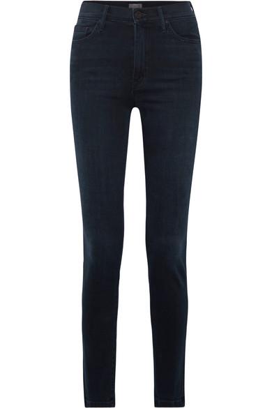 Mother The Super Swooner hoch sitzende Skinny Jeans