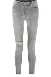Mother Looker distressed high-rise skinny jeans