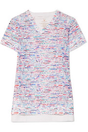 Lucas Hugh Glitch printed stretch-mesh T-shirt