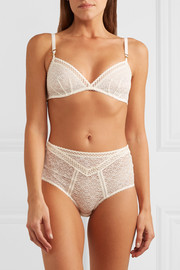 Stella McCartney Willow Wandering high-waisted stretch and Leavers lace briefs