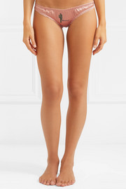 Stella McCartney Knickers Of The Week embroidered stretch-silk briefs