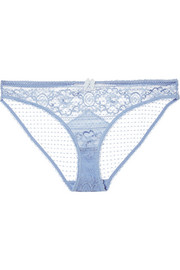 Ophelia Whistling stretch-Leavers lace briefs