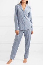 Stella McCartney Poppy Snoozing printed stretch silk-satin pajama set
