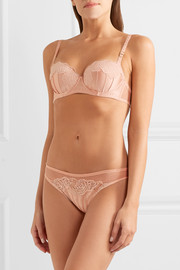 Stella McCartney Allegra Laughing stretch-Leavers lace and silk-satin briefs