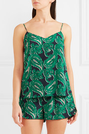 Stella McCartney Poppy Snoozing printed stretch-silk crepe de chine camisole