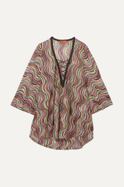 Missoni Mare Onda metallic crochet-knit tunic