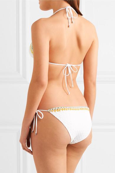 Missoni Pizzo Ondina Triangel-Bikini aus Strick in Häkeloptik