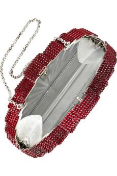 Judith Leiber|Tessen fine crystal-embellished clutch|NET-A-PORTER.COM