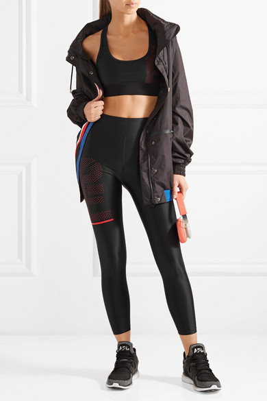 P.E Nation The Countdown Leggings aus bedrucktem Stretch-Material