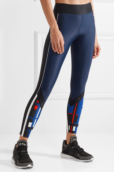 P.E Nation The Bowl Out Stretch-Leggings mit Streifen