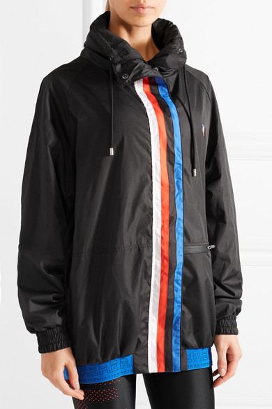 P.E Nation Back Up gestreifte Oversized-Jacke aus Shell