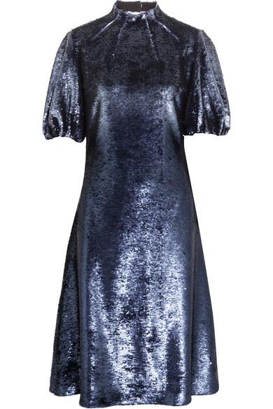 Emilia Wickstead - Cutout Sequined Tulle Dress - Indigo
