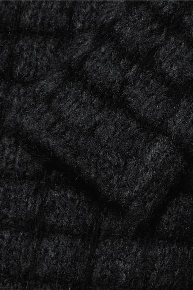 Rick Owens Lochstrickpullover aus einer Seiden-Baumwollmischung