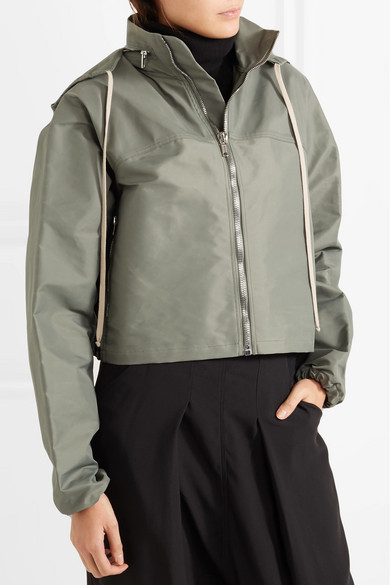 Cropped Hooded Shell Jacket by Rick Owens