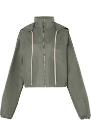 Rick Owens Cropped hooded shell jacket