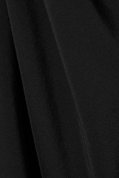 Rick Owens Midikleid aus Seide mit Wickeleffekt und Neckholder