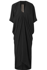 Rick Owens Draped silk-satin maxi dress