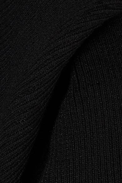 Rick Owens Oberteil aus Stretch-Strick mit Drapierung