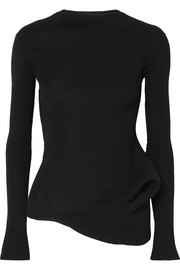 Rick Owens Draped stretch-knit top
