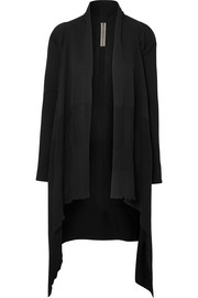 Rick Owens Asymmetric ribbed cotton-knit cardigan