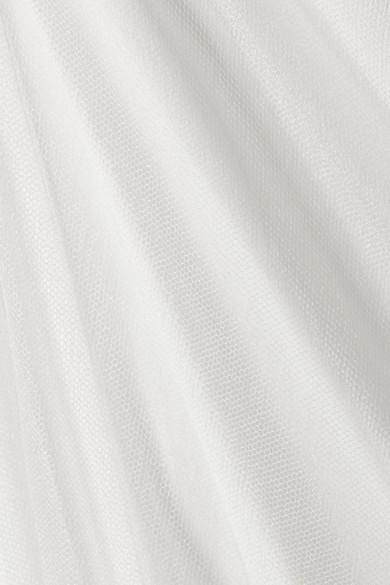 Rick Owens Mehrlagiges Maxikleid aus Seiden-Crêpe und Tüll