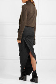 Rick Owens Stretch-cotton maxi skirt