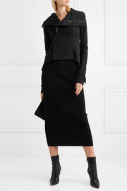 Rick Owens Stretch-knit midi skirt