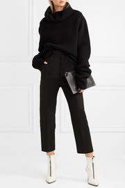 Rick Owens Cropped cotton-blend straight-leg pants