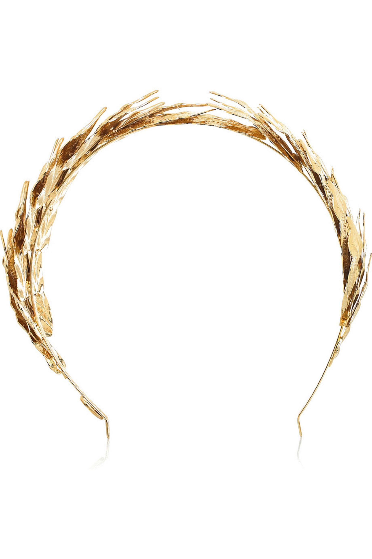 Louis Mariette Caesar gold leaf hairband