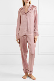 Stella McCartney Poppy Snoozing silk-satin pajama set
