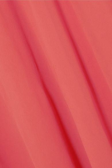 Giambattista Valli Robe aus Seiden-Georgette mit Cape-Überschlag und Satindetail