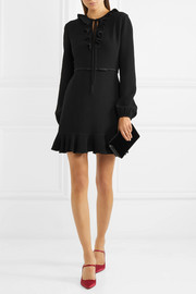 Giambattista Valli Ruffled crepe mini dress