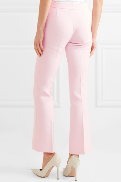 Cropped Crepe Flared Pants - Pink Giambattista Valli BEiICt2Pms