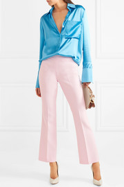 Giambattista Valli Cropped crepe flared pants