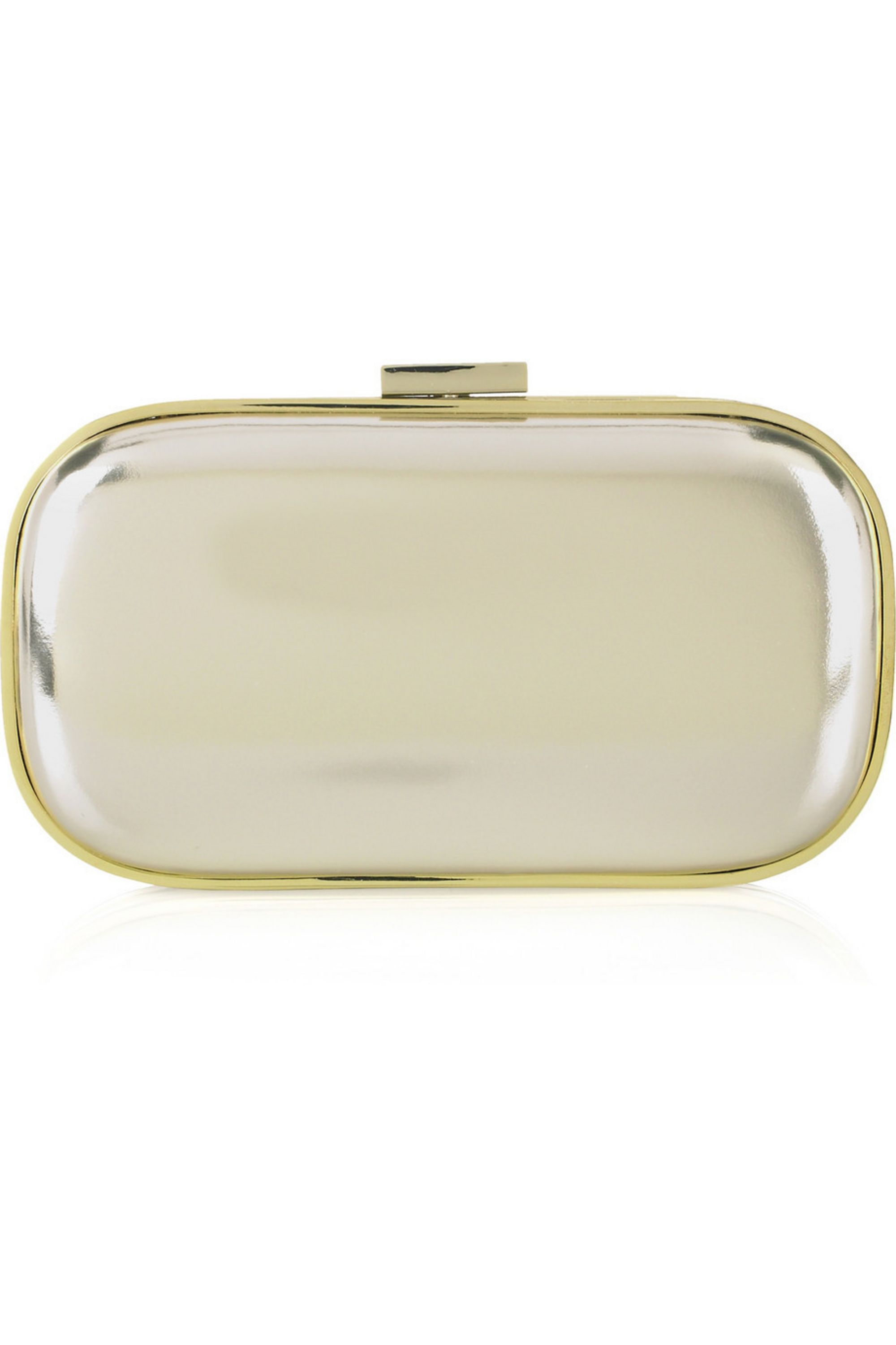 Anya Hindmarch Marano mirror-effect leather clutch