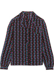 Etro Printed silk-crepe blouse