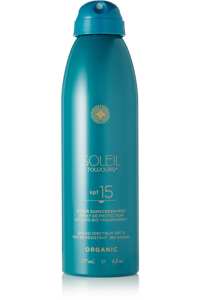 Soleil Toujours - Spf15 Organic Sheer Sunscreen Mist, 177ml - Colorless