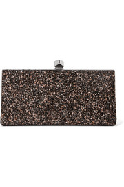 Jimmy Choo Celeste glittered canvas clutch