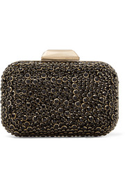 Jimmy Choo Cloud embellished suede clutch